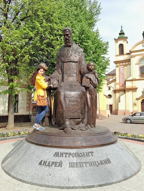 Памятник Андрею Шептицкому ивано-франковск