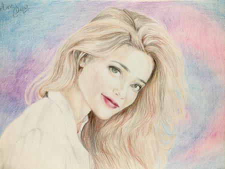 <p>Портрет девушки - цветными карандашами</p>