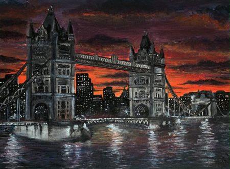 <p>Tower Bridge - Картина красками</p>