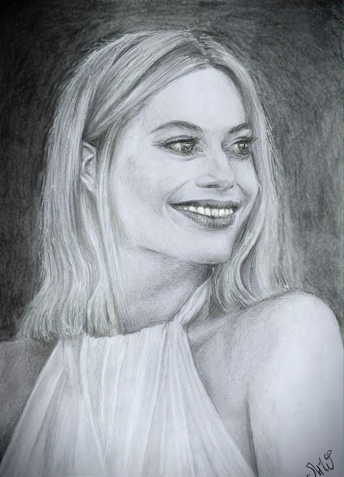 <p>Марго Робби - портрет карандашом </p>