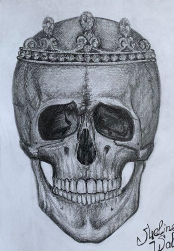 <p>Череп - рисунок карандашом </p>