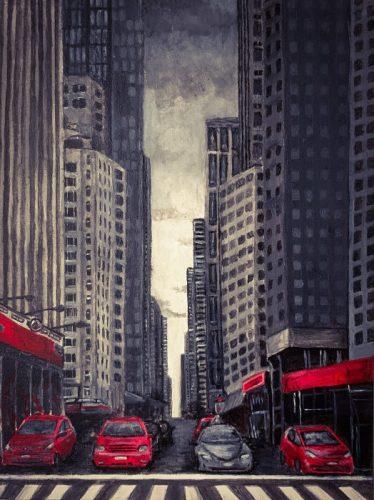 <p>New York - картина красками</p>