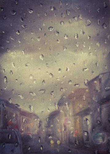 <p>После дождя - рисунок пастелью</p>
