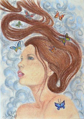 <p>Портрет девушки - пастелью А4</p>