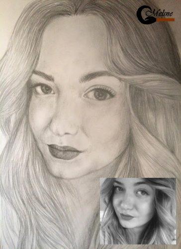 <p>Портрет девушки - карандашом (По фото)</p>