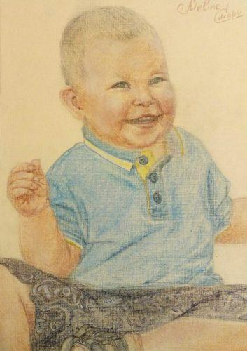 <p>Портрет ребенка - пастелью</p>