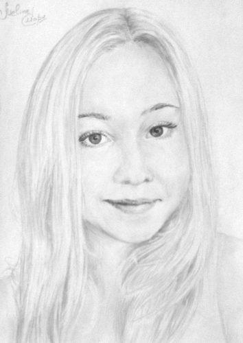 <p>Портрет девушки - карандашом Ручная работа</p>