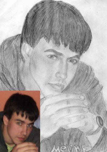 <p>Портрет парня - карандашом По фото</p>