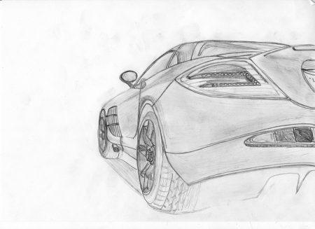 <p>Машина - рисунок карандашом</p>