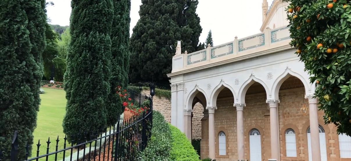 Бахайские сады в Хайфе, Израиль, усыпальница Баба