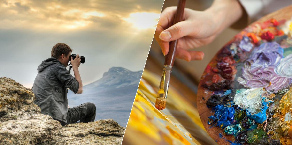 хобби, фотография, рисование